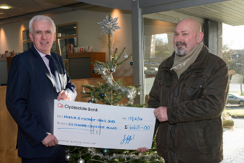 Inverurie and District Men's Shed - £665 by the Leader of Aberdeenshire Council, Councillor Jim Gifford, from his Christmas donation